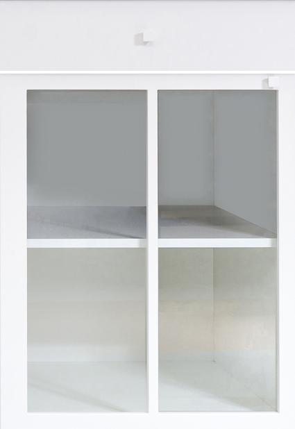 Biała witryna front kuchenny