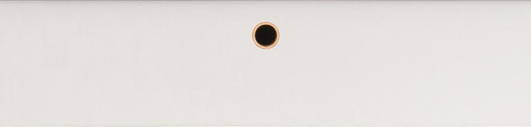 Front lakierowany z wyfrezowanym uchwytem w formie pierścienia