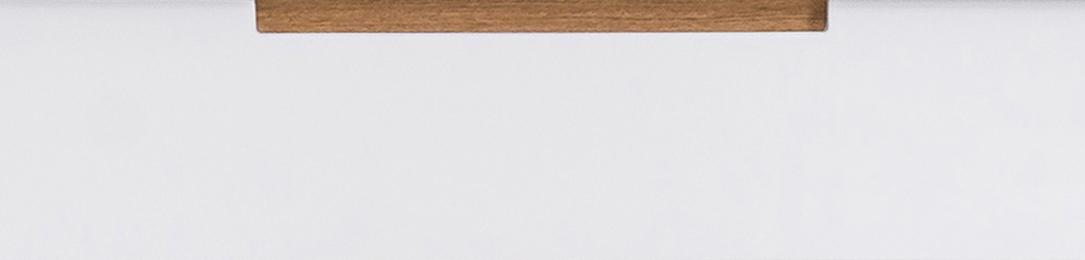 Front lakierowany z drewnianą wstawką