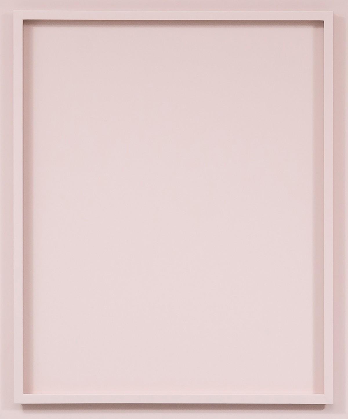 Różowy front z listewkami dookoła
